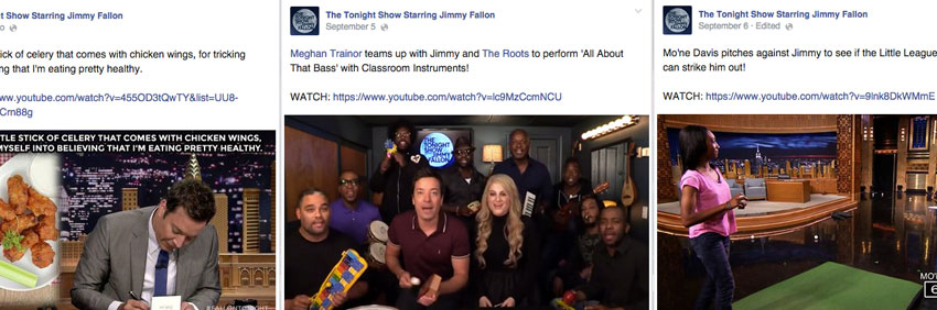 fallon facebook examples The King of Late Night… and of Content Marketing: What your B2B brand can learn from Jimmy Fallon